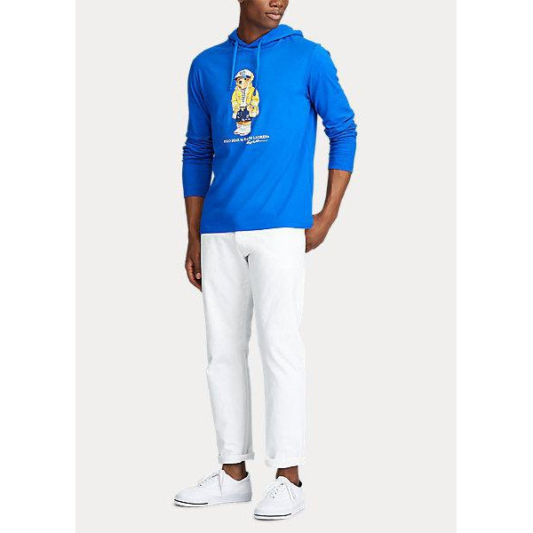 POLO RALPH LAUREN CP-93 Bear Hooded T-Shirt, Royal