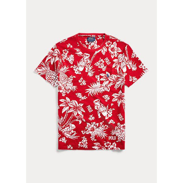 POLO RALPH LAUREN Hawaiian Bear Classic Fit T-Shirt, Red