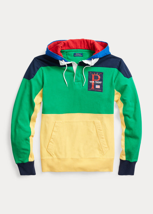 POLO RALPH LAUREN Color-Blocked Hooded Rugby, Green/ Multi