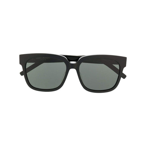 SAINT LAURENT Oversized Square Frame Sunglasses, Black-OZNICO