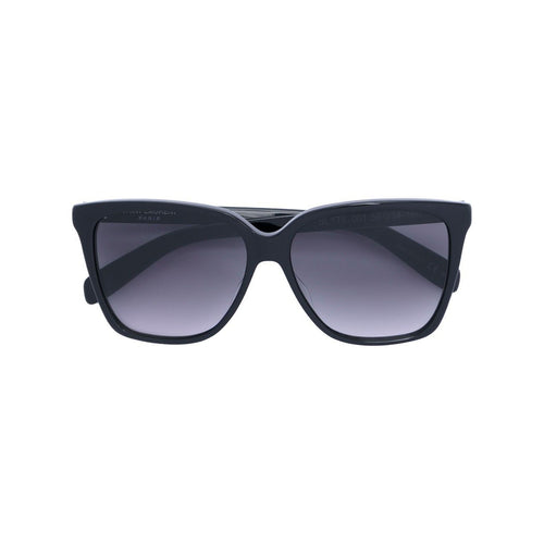 SAINT LAURENT Square Frame Acetate Sunglasses, Black-OZNICO