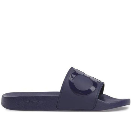 SALVATORE FERRAGAMO Groove 2 Slides, Black