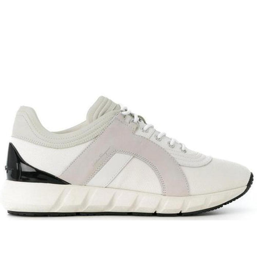 SALVATORE FERRAGAMO Low Top Sneakers, City Off White-OZNICO