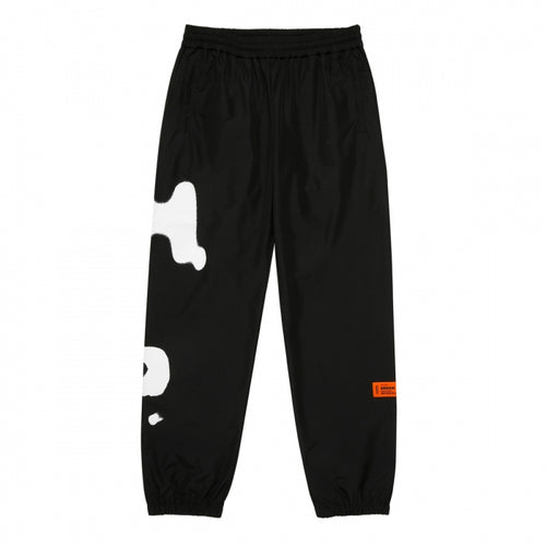 HERON PRESTON SPRAY TRACKPANTS, BLACK