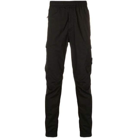 STONE ISLAND Logo Fleece Sweatpants, Petrol