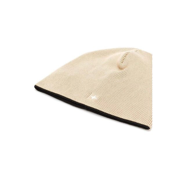 STONE ISLAND Classic Knitted Hat, Beige/ Black-OZNICO