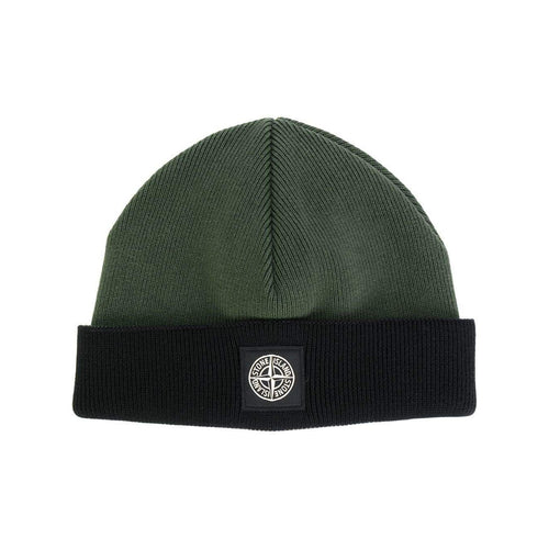 STONE ISLAND Classic Knitted Hat, Green/ Black-OZNICO