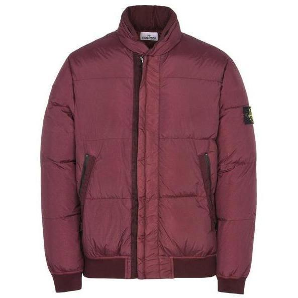 Stone Island Down Jacket, Bordeaux-OZNICO