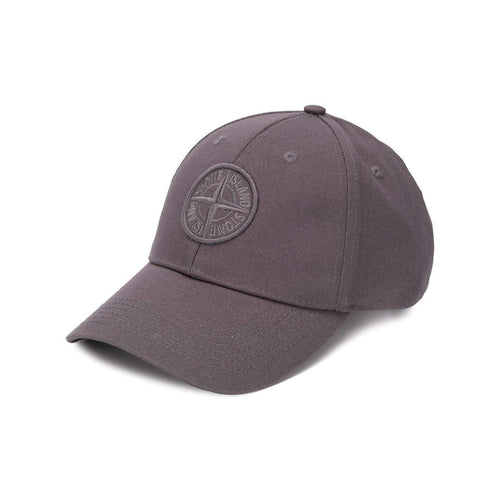 STONE ISLAND Embroidered Logo Baseball Cap, Grey-OZNICO