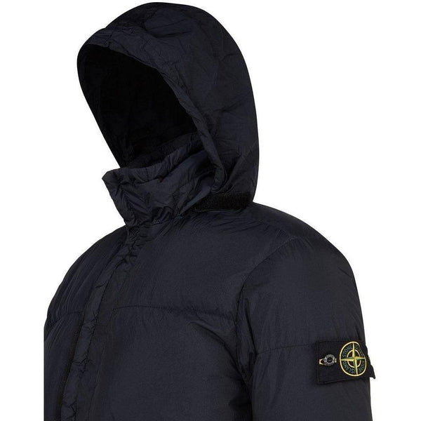 new arrival 85270 162f7 STONE ISLAND: Garment Dyed Crinkle Reps NY Down Jacket, Navy