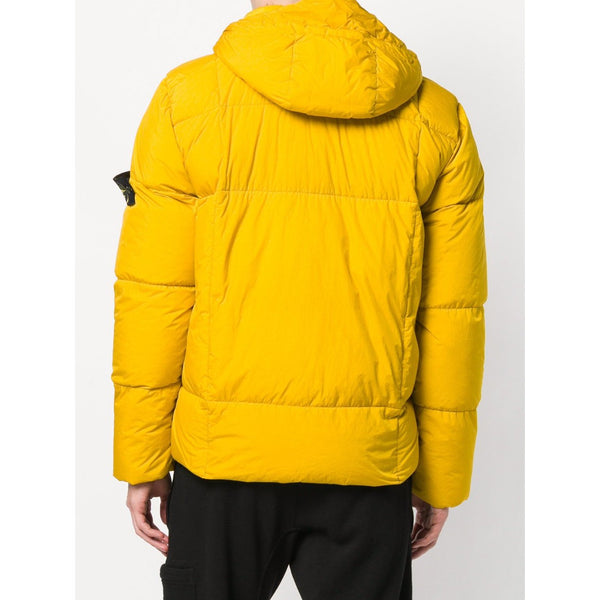 STONE ISLAND Garment Dyed Crinkle Reps NY Down Jacket, Yellow-OZNICO