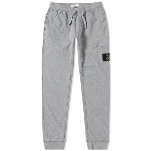 STONE ISLAND Garment Dyed Slim Sweatpants, Grey Melange-OZNICO