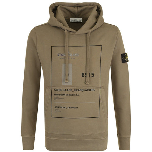STONE ISLAND Headquarters Hooded Sweatshirt, Olive-OZNICO