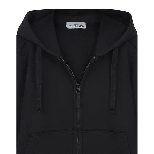 STONE ISLAND Hooded Sweatshirt, Black-OZNICO
