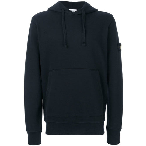 Stone Island Hooded Sweatshirt, Blue-OZNICO