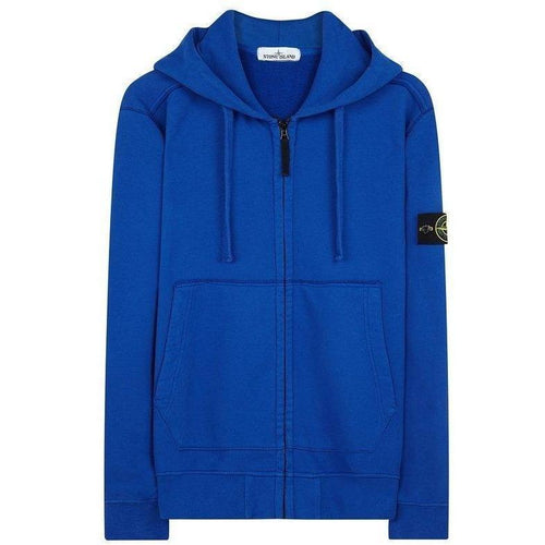 Stone Island Hooded Sweatshirt, Light Blue-OZNICO