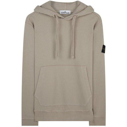Stone Island Hooded Sweatshirt, Tan-OZNICO