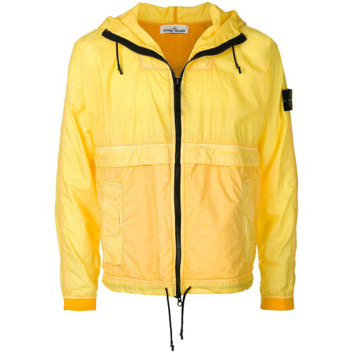 STONE ISLAND Lightweight Hooded Jacket, Sunshine Yellow-OZNICO