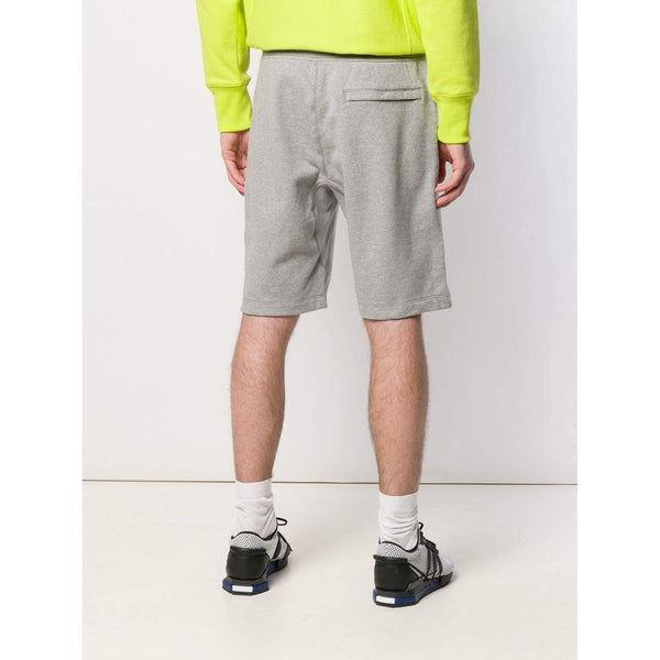 STONE ISLAND Logo Patch Cotton Track Shorts, Grey-OZNICO