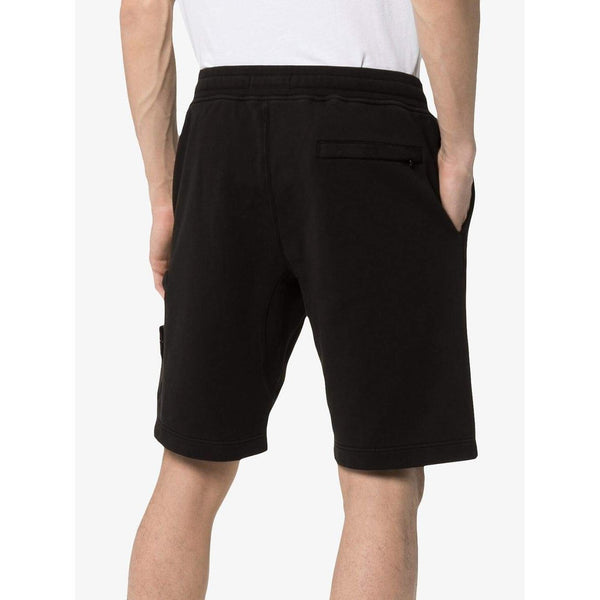 STONE ISLAND Logo Patch Track Shorts, Black-OZNICO