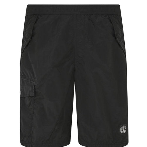 STONE ISLAND Nylon Metal Swimming Shorts, Black-OZNICO