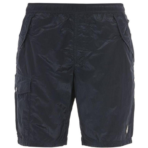STONE ISLAND Nylon Metal Swimming Shorts, Blue-OZNICO