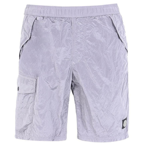 STONE ISLAND Nylon Metal Swimming Shorts, Lavender-OZNICO