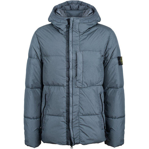 Stone Island: Real Down Blouse Jacket, Grey-OZNICO