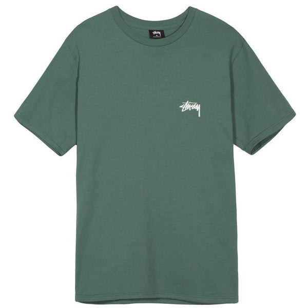 STUSSY Fire On Babylon Tee, Sage-OZNICO