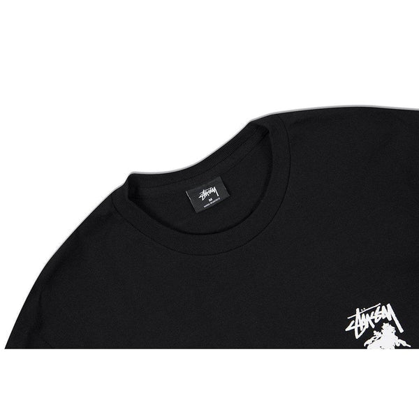 STUSSY Lion Shield Tee, Black-OZNICO