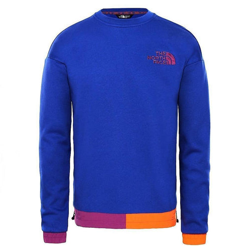 THE NORTH FACE 92 Rage Fleece Crewneck Sweatshirt, Aztec Blue-OZNICO