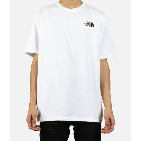 THE NORTH FACE 92 Rage Print Half Dome Heavy Weight T-Shirt, White-OZNICO