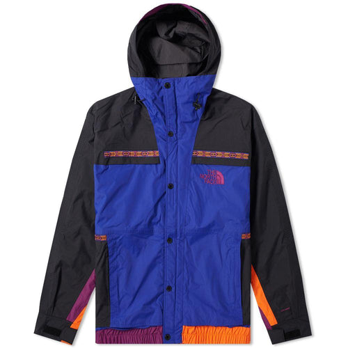 THE NORTH FACE 92 Retro Rage Rain Jacket, Aztec Blue/ Rage Combo-OZNICO