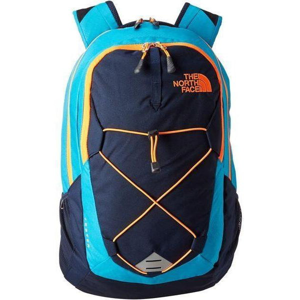 THE NORTH FACE Jester Backpack, Blue/ Orange-OZNICO