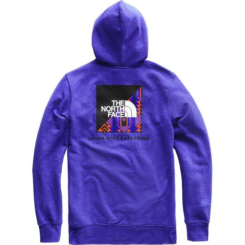 THE NORTH FACE Red Box Pullover Hoodie, Aztec Blue/ Rage Print-OZNICO