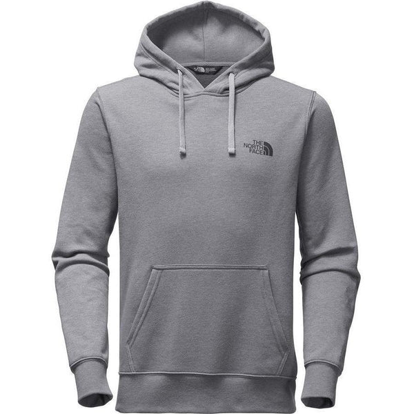 THE NORTH FACE Red Box Pullover Hoodie, Medium Grey Heather/ Aztec Blue Rage Print-OZNICO