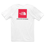 THE NORTH FACE S/S Red Box Heavy Weight T-Shirt, TNF White/ TNF Red-OZNICO
