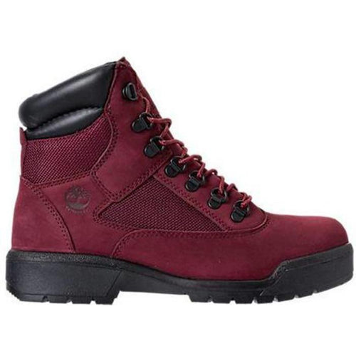"TIMBERLAND 6"" Men's Field Boots, Burgundy/Port-OZNICO"