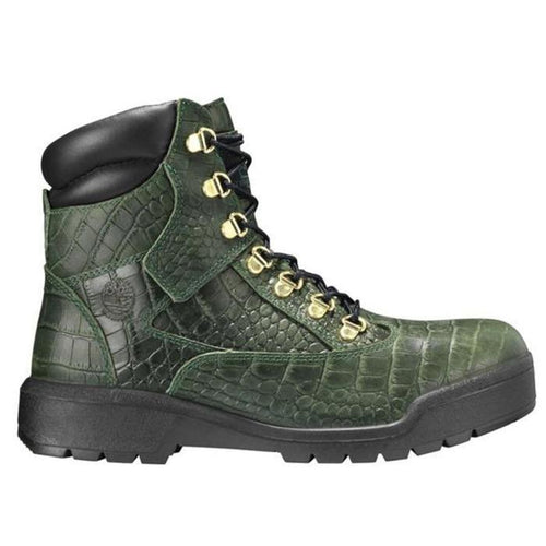 "TIMBERLAND 6"" Men's Field Boots, Exotic Green-OZNICO"