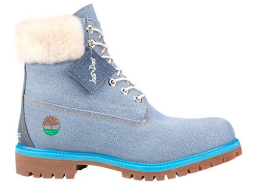 "TIMBERLAND X JUST DON 6"" Denim Boots, Blue-OZNICO"