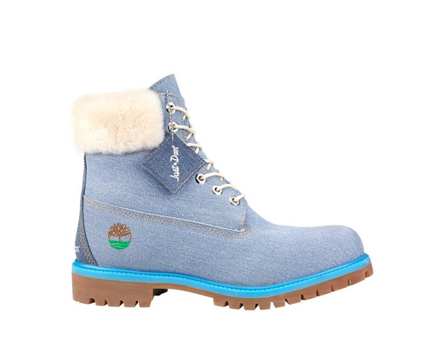 "TIMBERLAND X JUST DON 6"" Denim Boots (Grade-School), Blue-OZNICO"