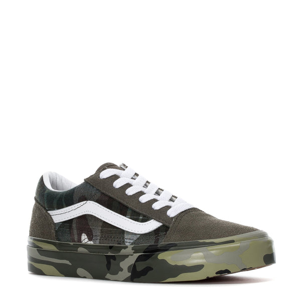 VANS Kid's Old Skool, Plaid Camo-OZNICO