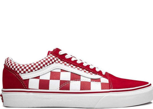 VANS Old Skool Mix Checker, Red/ White-OZNICO