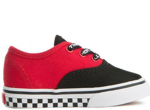 VANS (TD) Authentic Logo Pop, Black/ Red-OZNICO