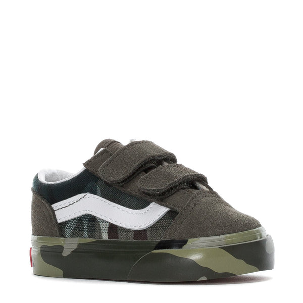 VANS (TD) Old Skool V, Plaid Camo-OZNICO