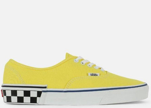 VANS UA Authentic Check Block, Blazing Yellow/ White-OZNICO