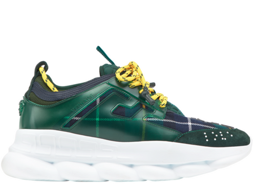 VERSACE Chain Reaction Sneakers, Green-OZNICO