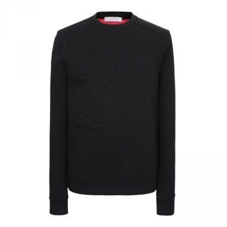 VERSACE COLLECTION Activewear Sweatshirt, Black-OZNICO