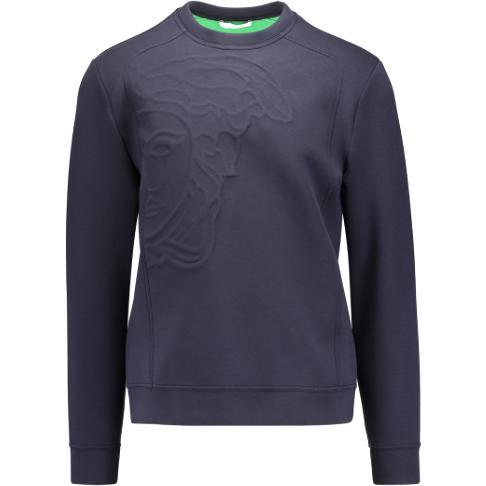 VERSACE COLLECTION Activewear Sweatshirt, Blue-OZNICO