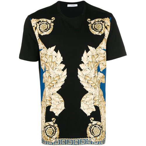 VERSACE COLLECTION Baroque Print T-Shirt, Black-OZNICO